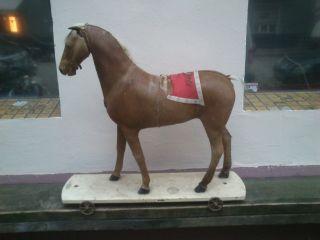Schaukelpferd Antik Ca.  1880 Pferdefell Schweif Unrestauriert Rocking Horse Bild