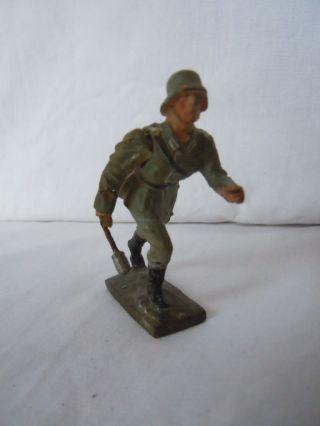 Lineol Elastolin Infanterie Soldat Laufend Von Lineol Mit Beweglichen Arm 7 Cm Bild