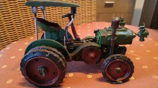 Uriger Blech Traktor Trecker Alt Mercedes Blechauto Bild