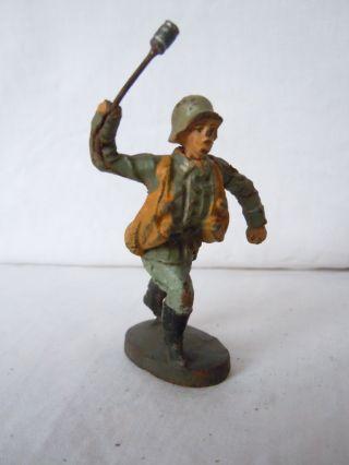 Lineol Elastolin Deutscher Infanterie Soldat Granate Werfend Von Elastolin Bild