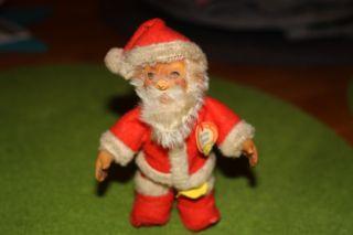 - Schöne Alte Steiff Figur Santa Claus Wohl Um 1950 - Fahne,  Schild,  Knopf - Bild