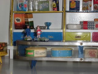Alter Tischkaufmannsladen Der 50er - 60er Jahre Bild