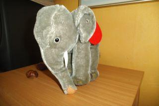 Steiff Elefant Mit Knopf Ohne Fahne Alt - Aus Mitte 60er Bild
