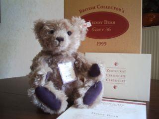 Steiff Britsh Collector´s Bär Teddy Limitiert Auf 3000 Stück 1999 Bild