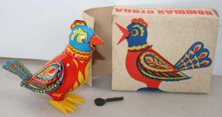 Blechspielzeug Vogel Ovp Ussr Singvogel Taube Vintage Tin Toy Bird Boxed Bild