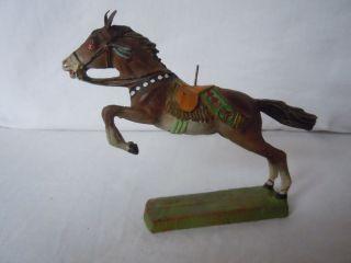 Lineol Elastolin Indianerpferd Im Galopp Und Sprung Von Elastolin In Bild