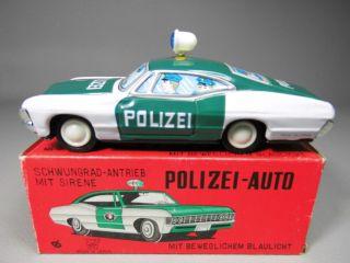 Alter Ford Torino Cobra Polizei Blechspielzeug Blechauto Ichiko Ovp Bild