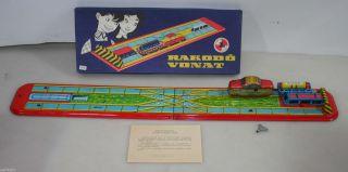 Funktion.  Rakodo Vonat Rare Vintage Blecheisenbahn Lemezarugyar Schlüssel Ovp Bild