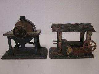 2 Stck.  Alte Antriebsmodell ' E Für Dampfmaschine (damo) Doll & Co.  (dc) Germany Bild