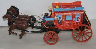 Overland Stage Express Blechkutsche Kutsche Tin Toy Blechspielzeug Postkutsche Bild