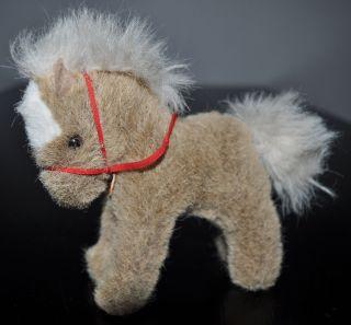 Steiff Pferd,  Pony Stompy 14 Cm Mit Schild,  Ohne Knopf,  Fahne 70er Bild