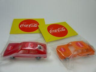Novolinea Spain Coca Cola Kunststoff Werbemodelle Alfa Sud,  Fiat 128 Rally Bild