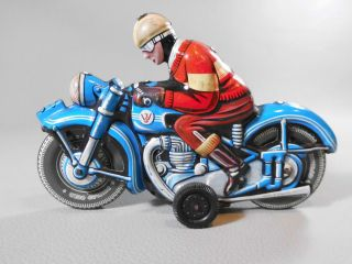 Altes Motorrad Blechspielzeug Made In Western Germany Bike Blech Tin Toys Bild