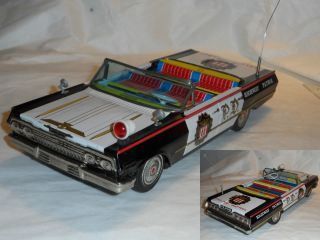 Altes Blechauto Chevrolet Impala Ss Police Car Made In Japan Bild