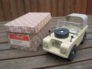 Steiff Safari - Wagen 8857/25 Landrover Traktor Trecker Unimog Anhänger Bild