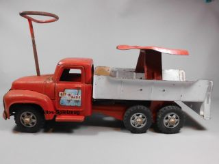 Buddy L Lkw Rutscherauto Mit Lenkung Altes Blechspielzeug Truck 50er 60er Jahre Bild