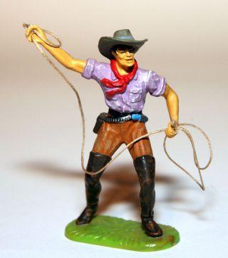 Elastolin Figur Cowboy Mit Lasso Art.  6978 Bemalung 2 Bild