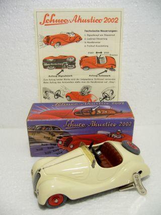 Schuco Akustico Roadster Bmw 328 Ersatzrad Fahrwerk,  Hupwerk 1:30 Mig 2000 Bild