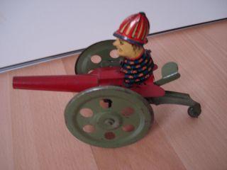 Blechspielzeug Kanonenmann Bild