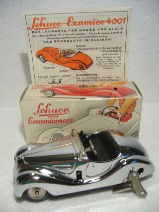 Schuco Examico 4001 Bmw 328 Cabriolet Uhrwerk Maßst.  1:30 Vernickelt Mig 1995 Bild
