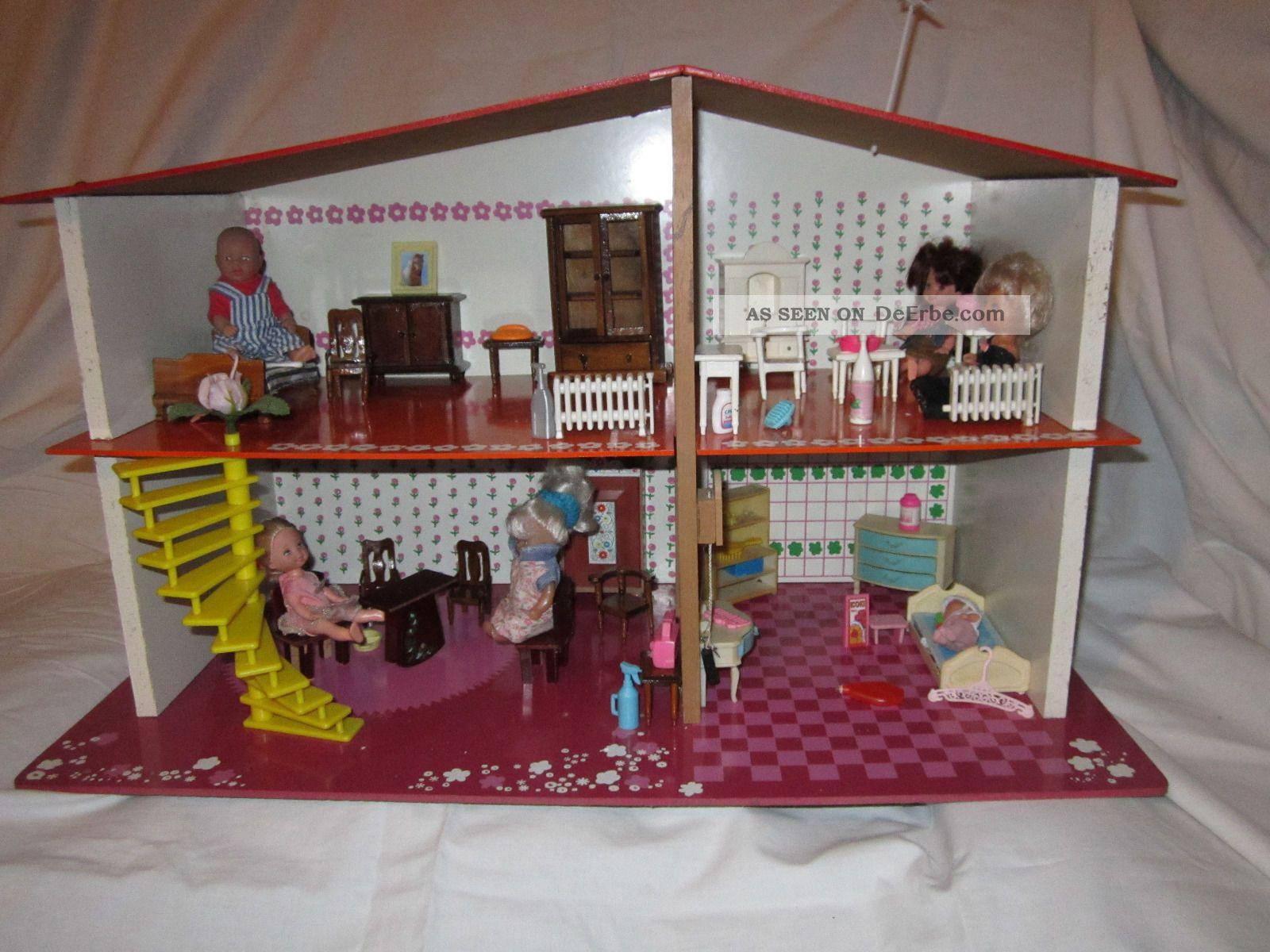 sio design puppenhaus 70er jahre puppenstube puppen. Black Bedroom Furniture Sets. Home Design Ideas