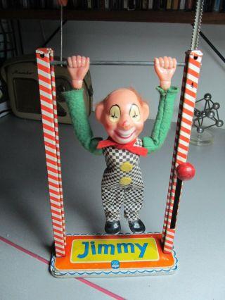 Arnold Jimmy Clown Acrobat 50ern Jahre Blechspielzeug Bild