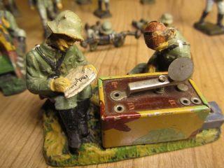 Elastolin Funker Und Mg - Schütze 1.  Oder 2.  Weltkrieg Bild