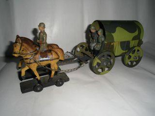 2.  Wk Pferdegespann Mit Planwagen Und Besatzung Bild