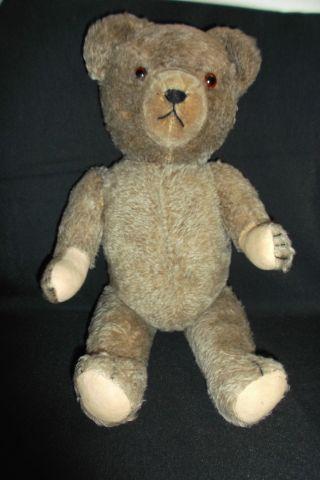 Alter TeddybÄr - Holzwolle Gestopft - Scheibengelenke - Bild