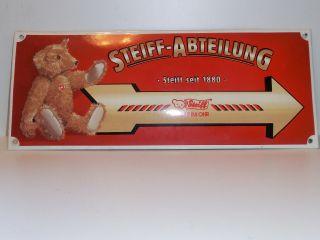 Steiff Metallschild Bild