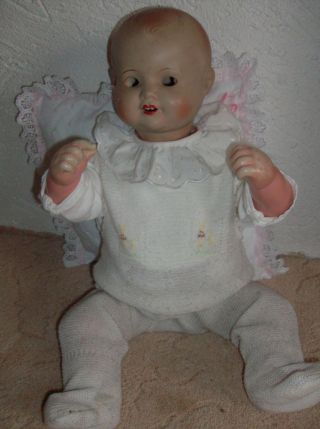 Großes Altes Baby Puppe Sonneberger Porzellanfabrik Sp Sonneberg Ca 60 Cm Bild