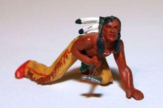Elastolin Figur Indianer Schleichend Art.  6828 In Bemalung 2 Bild