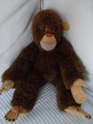 Steiff Affe Schimpanse Jocko 0022/26 Knopf Fahne Bild