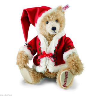 Steiff Bär Weihnachtsteddybär 33cm Mohair Zimt,  Musikwerk Limitiert 034121 Bild