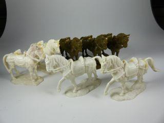 7x Hausser Elastolin Landsknechte Pferde Rohlinge - 7cm Serie Bild