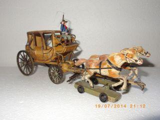 Postkutsche Kutsche Wildwest Cowboys Indianer Spielzeug Bild
