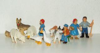 Bully 12 Figuren Bauernhof 80er Jahre - RaritÄt Bild