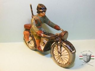 Lineol Wehrmachts Soldat Auf Motorrad (masse) Bild