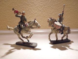 Elastolin - Trompeter Auf Pferd - - - Lineol - - Soldat Mit Trommeln Auf Pferd Org 30er Bild