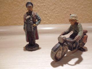 Elastolin - 1 Gerneral - - Ein Motorradfahrer 2.  W.  K.  Org 30er Bild