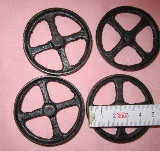 Eisenräder Als Ersatzteil Für Kinderspielzeug 55 Mm Durchmesser,  Ohne Mittelloch Bild