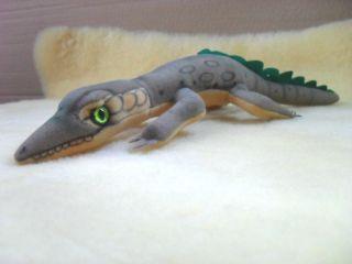 Steiff Krokodil Aus Trevirasamt Ca.  37 Cm Lang,  Ohne Ids,  Steifftier,  Selten Bild