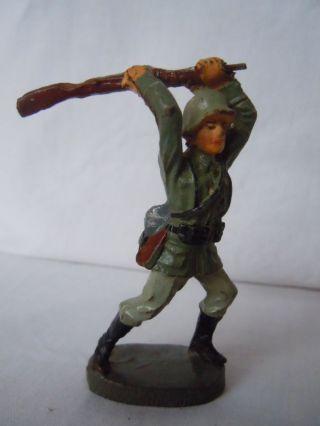 Lineol Elastolin Deutscher Infanterie Soldat Schütze Schlagend Von Elasolin Top Bild