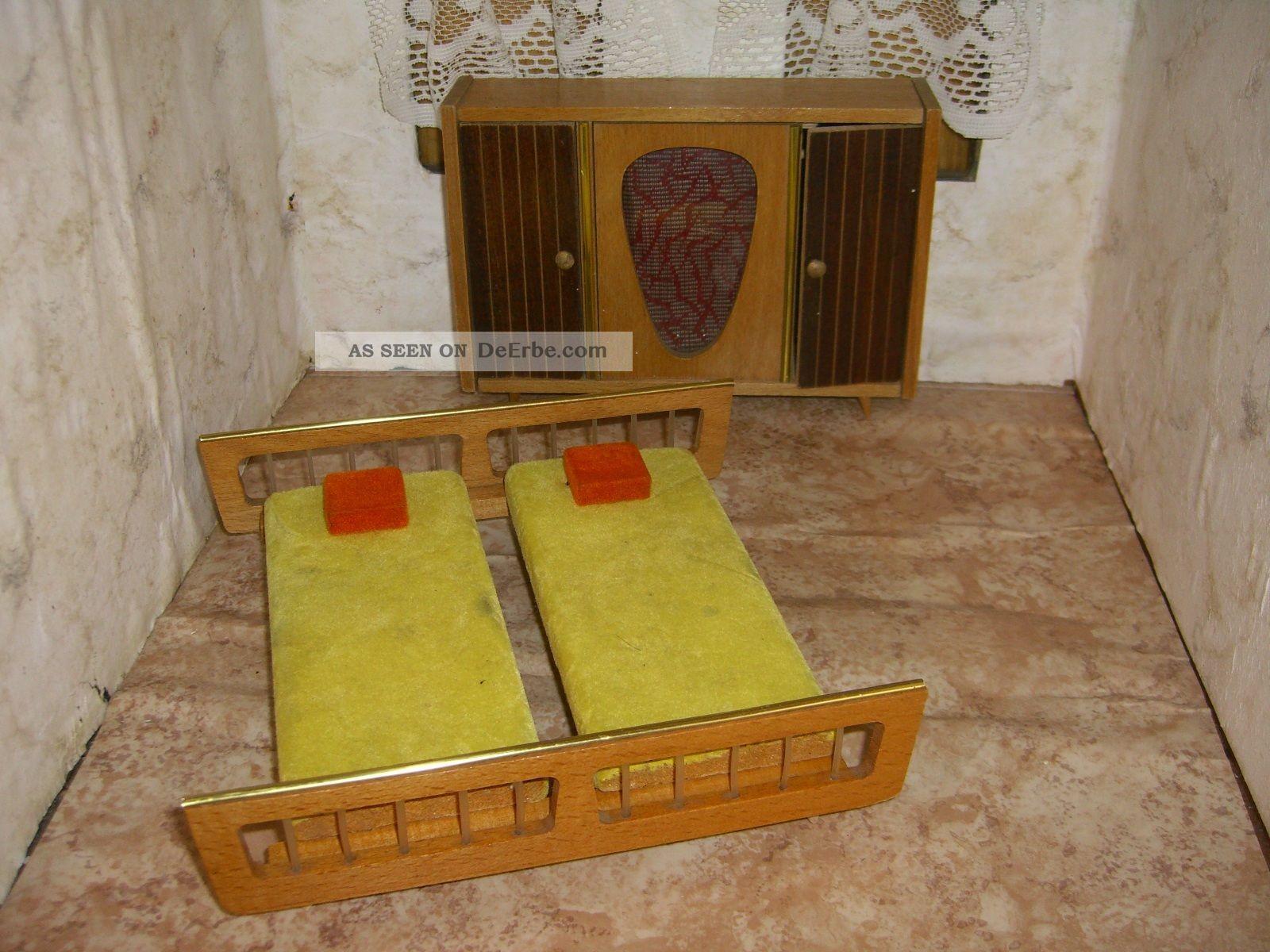 Puppenstubenmöbel - Möbel Für Die Puppenstube - Schlafzimmer 50er ...