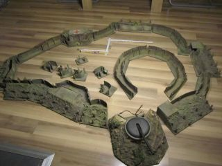 Lineol Schützengrabensystem 1.  Weltkrieg Ohne Soldaten Rarität Mit Feldhaubitze Bild