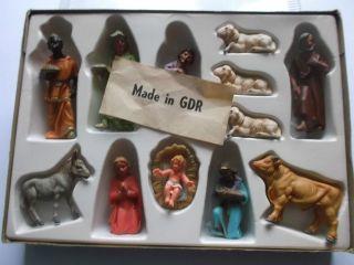 Ddr Ovp 1970 Marolin Plastic Weihnachtskrippe Plaho Indianer 1 Bild