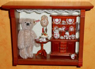 SammlerstÜck Schaukasten Mit Einem Teddy Von Steiff Bild