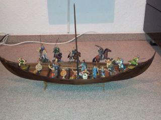Elastolin,  Janetzki,  Großes Wikingerschiff Für 7 Cm Figuren Bild