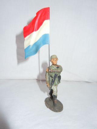 Lineol Elastolin Deutscher Wehrmachtssoldat Fahnenträger Blechfahne Elastolin Bild