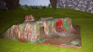 Landschaft Mit Zelt Und Grotte /fr.  Fischer Kg/ddr Indianer/cowboys/diorama Bild